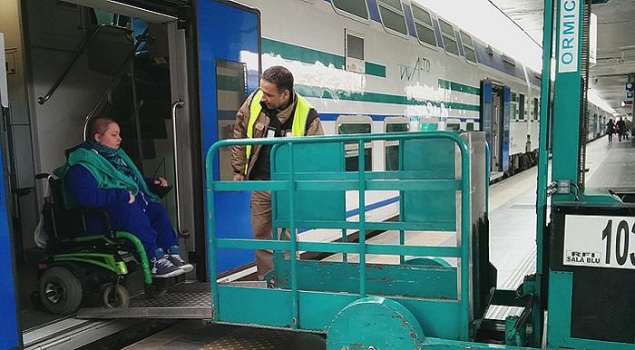 Disabili accesso stazione ferroviaria